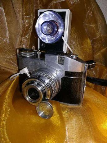 """Máquina Fotográfica 'vintage"""" Comet S - 1950 + Raro Flash de bolso"""