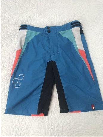 Spodenki spodnie szorty rowerowe na rower z wkładką Cube R. 158-164