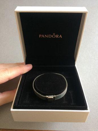 Браслет Pandora Reflexions с оксидированного серебра