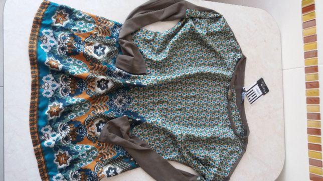 WYSYŁKA 5 ZŁ Nowa zielona khaki bluzka bluza koszula 38 40 42 M L XL