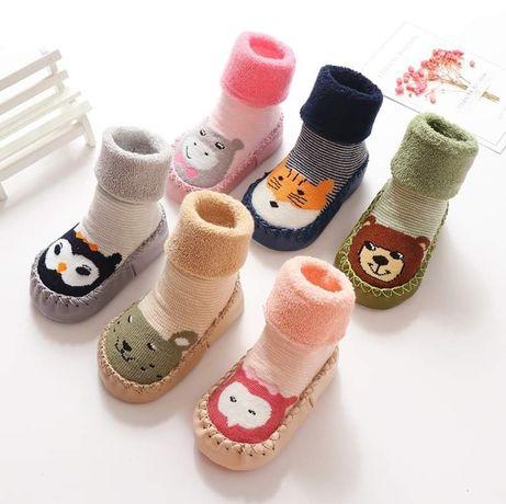 Тапочки носочки носки чешки шкарпетки антискользящие пинетки малышам