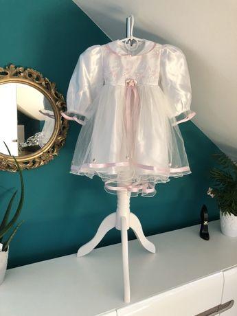 Sukieneczka sukienka na chrzest okolicznościowa