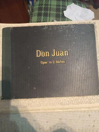 Partytura Don Juan Mozart unikat antyk