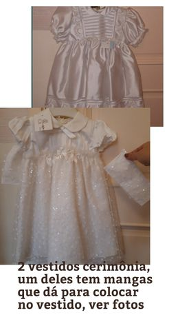 Novo 2 Vestidos cerimónia ou baptizado novo