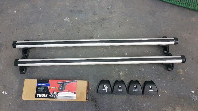 THULE 751 FOOT PACK, bagażnik dachowy stopy + belki aluminiowe