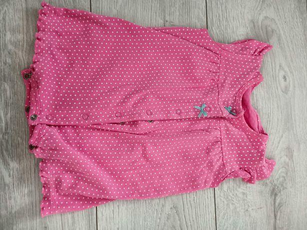 Różowy rampers dla dziewczynki