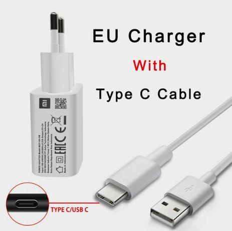 Швидке Зарядное устройст Xiaomi MDY-09-EL 10W QC3.0  кабель USB-Type C