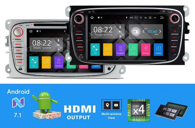 "Rádio FORD Android 7.1 Quad-Core Ecrã 7"" HD 2GB RAM Wifi GPS Bluetooth"