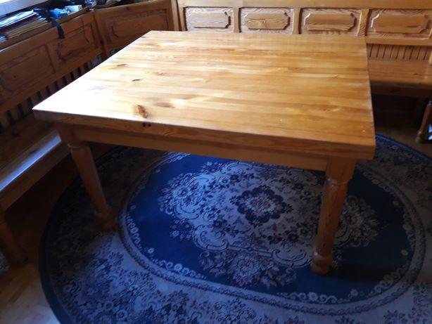 Sprzedam stół drewniany, ławę (narożnik) do siedzenia, 4 krzesła