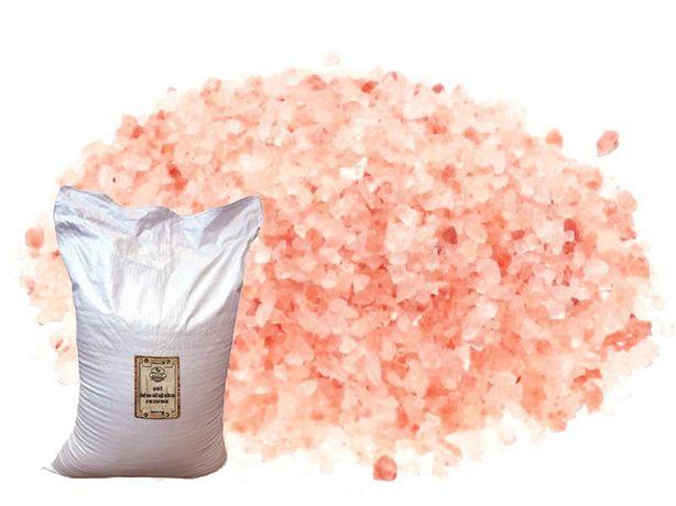 Sól himalajska różowa gruba 25 kg Pakistan ciemno różowa