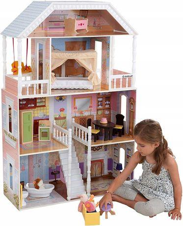 Кукольный домик для барби.Кукольный домик .Домик для кукол с мебелью.