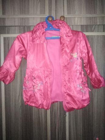 Розовая курточка на ребенка