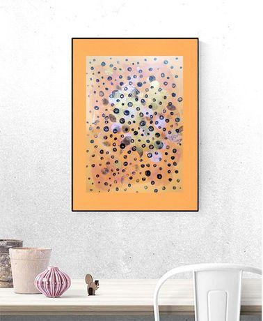 abstrakcja salon, abstrakcja loft, dekoracja na ścianę minimalizm