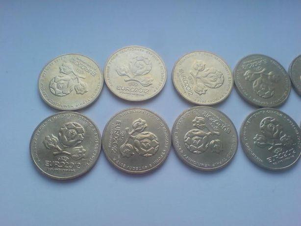 Монета Украины номиналом 1 грн ЕВРО 2012