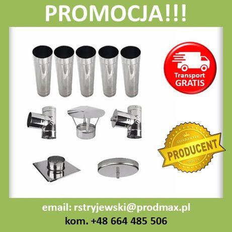 OKAZJA!! Wkład Komin Węgiel Drewno ŻAROODPORNY 1mm FI200 5MB Producent