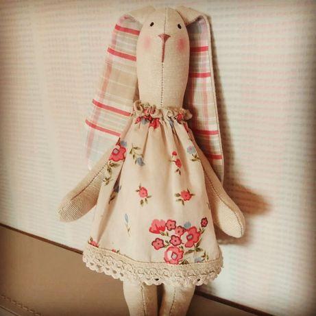 Зайка текстильный Тильда Подарок ручная работа день рождения