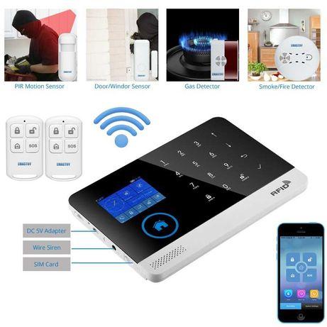 (NOVO) Alarme sem fios GSM 3G Wi-Fi c/app Android IOS - Alarme Casa