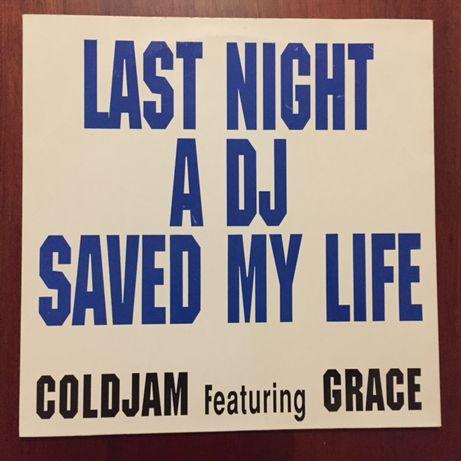 """Vinil """"last night a DJ saved my life"""" - Coldjam feat. Grace"""