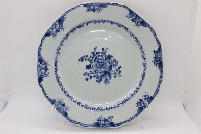 Prato Porcelana Chinesa Companhia das Índias XVIII