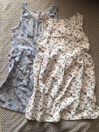 2 pak sukienek 116 cm Primark NOWE