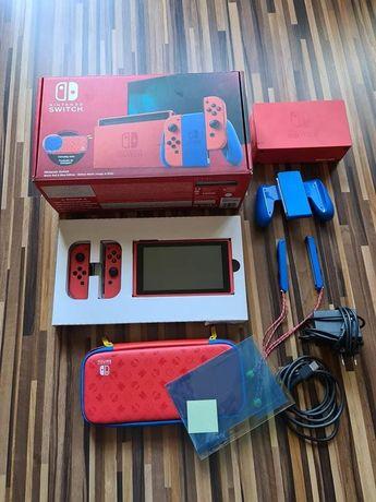 Jak NOWE Nintendo Switch v2 Mario Red & Blue edition komplet + GW 2023