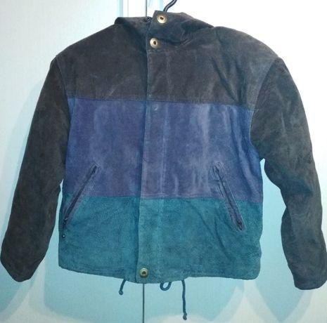 Демисезонная куртка из нат. замши