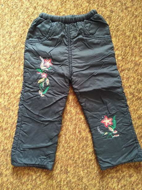 Зимние теплые брюки брючки на девочку до 3-4 лет