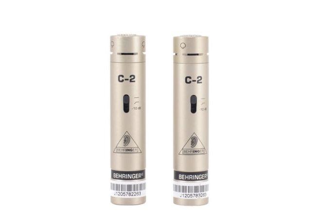 Microfones condensador behringer c2 stereo set