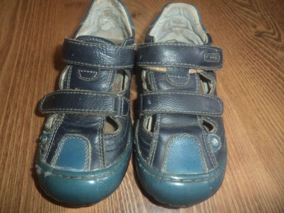 Sandałki, sandały skórzane z zabudowanymi palcami 30 (19cm)