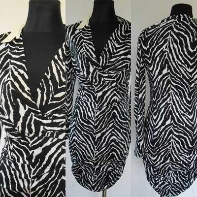 Cudna sukienka zebra roz s/m nowa
