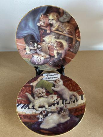 Винтаж : коллекция тарелок с котятами репродукция оригинальных картин
