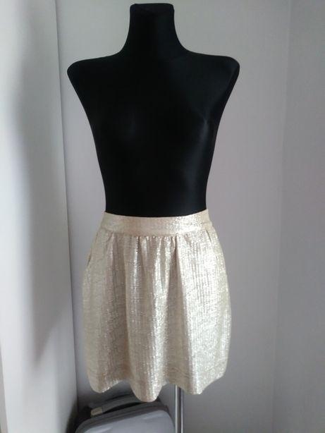Złota spódnica Scarlet Roos kieszenie