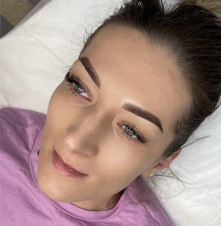 Makijaż permanentny brwi Ombre i Puder Brows. PROMOCJA