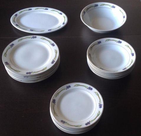 Serviço de mesa em Porcelana Fina (Por estrear)