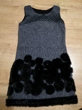 Sukienka M czarno szara