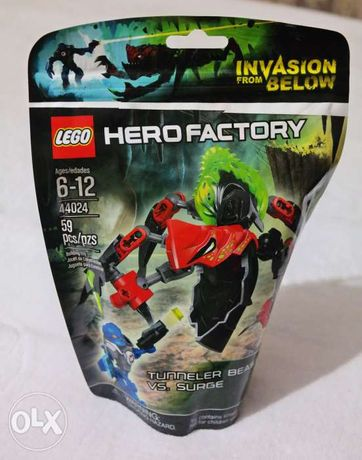 Лего LEGO Hero Factory Чудовище-горнопроходчик против Сурж 44024