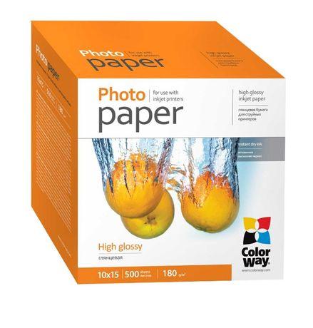 Фотобумага ColorWay 180 г/м2 10х15 500 листов