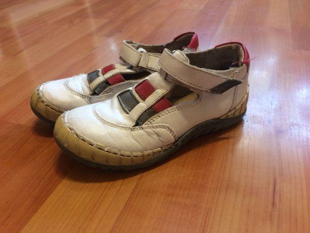 Шкіряні черевички туфлики для дівчинки