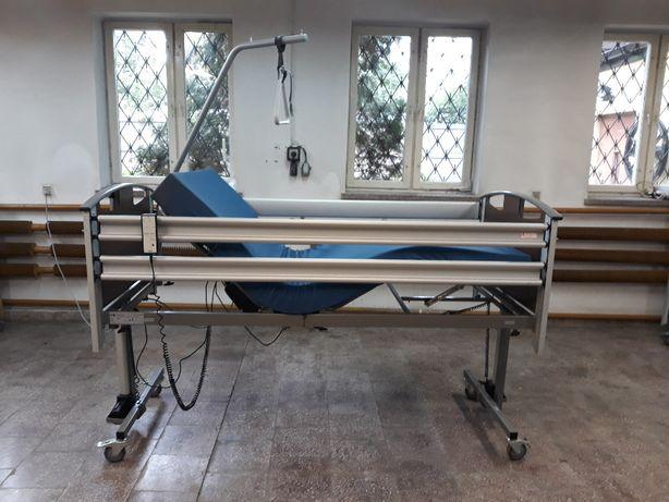 Komplet łóżko rehabilitacyjne z pilotem PCC i materacem w pokrowcu