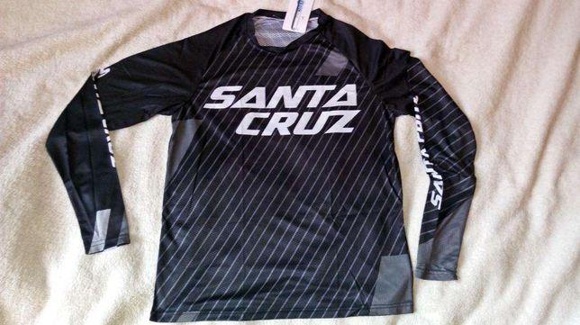 Bluza rowerowa Santa Cruz czarna rozmiar XL coolmax enduro