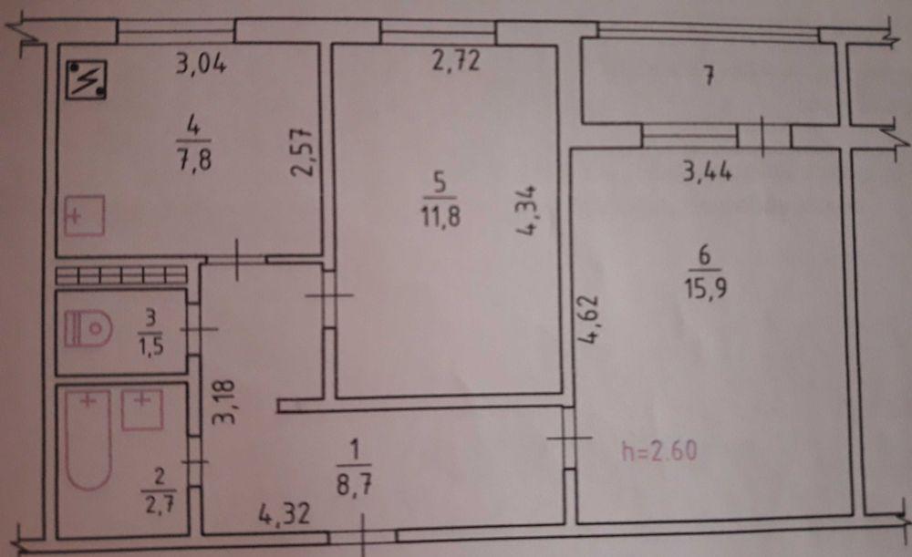 Продам 2-х Кімнатну Квартиру Вараш - изображение 1