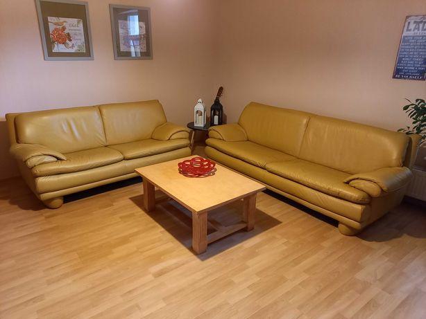 Kanapa sofa skóra 2-czesciowa