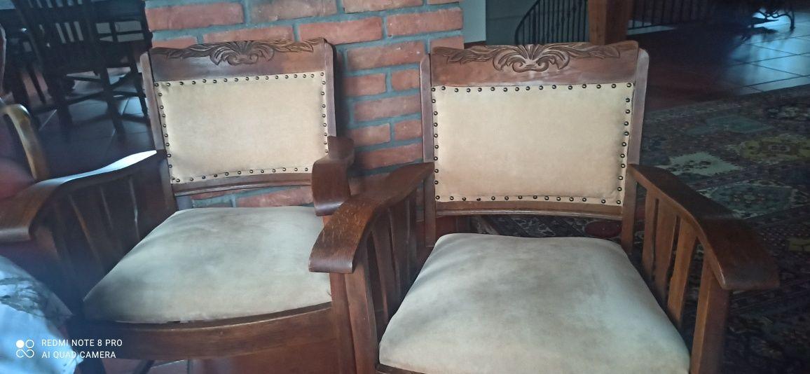 Fotel fotele stary dębowy