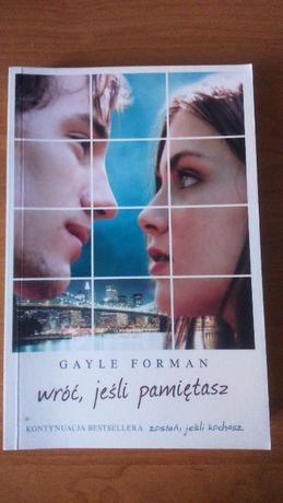 Sprzedam książkę Wróć, jeśli pamiętasz Gayle Forman