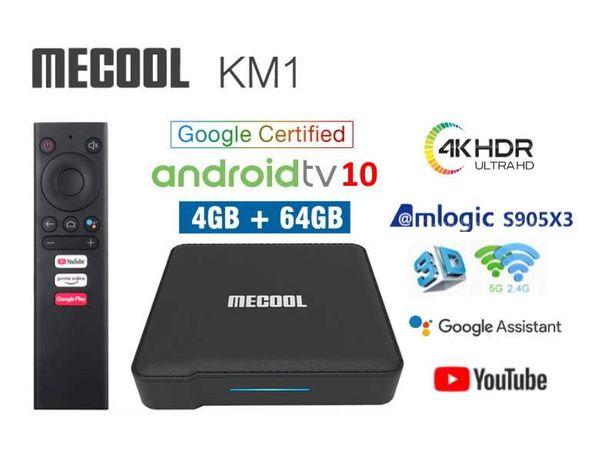 Mecool KM1 4/64Gb AndroidTV Box ТВ приставка KM6X3 Pro