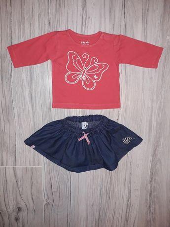 Spódniczka + bluzeczka r. 62 cm - 5.10.15