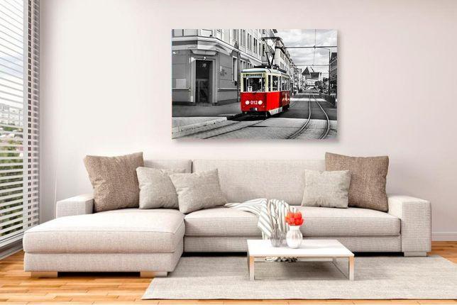 FotoObraz na płótnie - Tramwaj - Elbląg - duży 70x100 Nowy