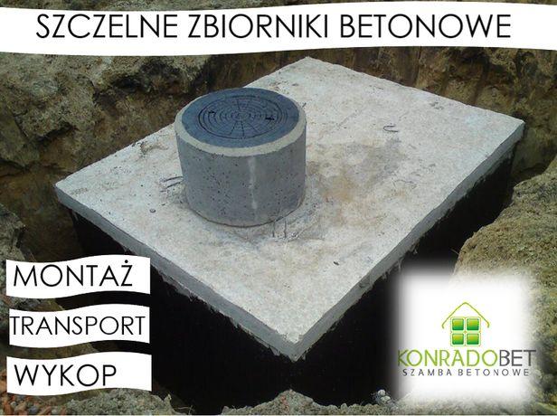 zbiorniki betonowe na szambo, szczelne szamba zbiornik montaż transpor