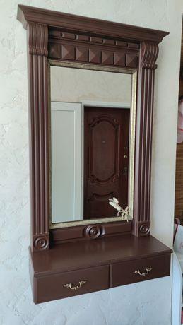 Зеркало с ящичками