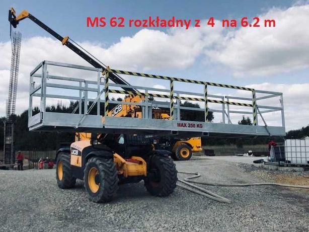Manitou jcb merlo bobcat platforma robocza kosz do ładowarki obrotnica